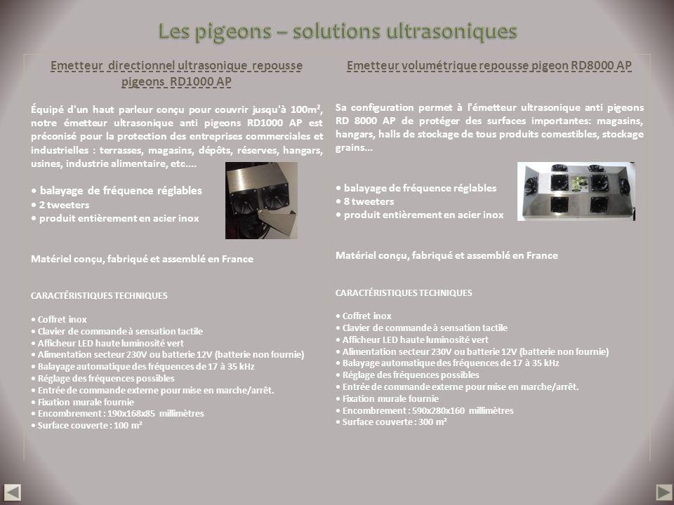 Emetteur directionnel ultrasonique repousse pigeons RD1000 AP Équipé d'un haut parleur conçu pour couvrir jusqu'à 100m², notre émetteur ultrasonique a