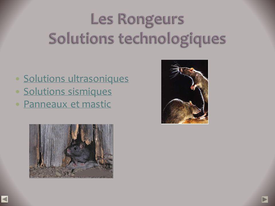Solutions ultrasoniques Solutions sismiques Panneaux et mastic