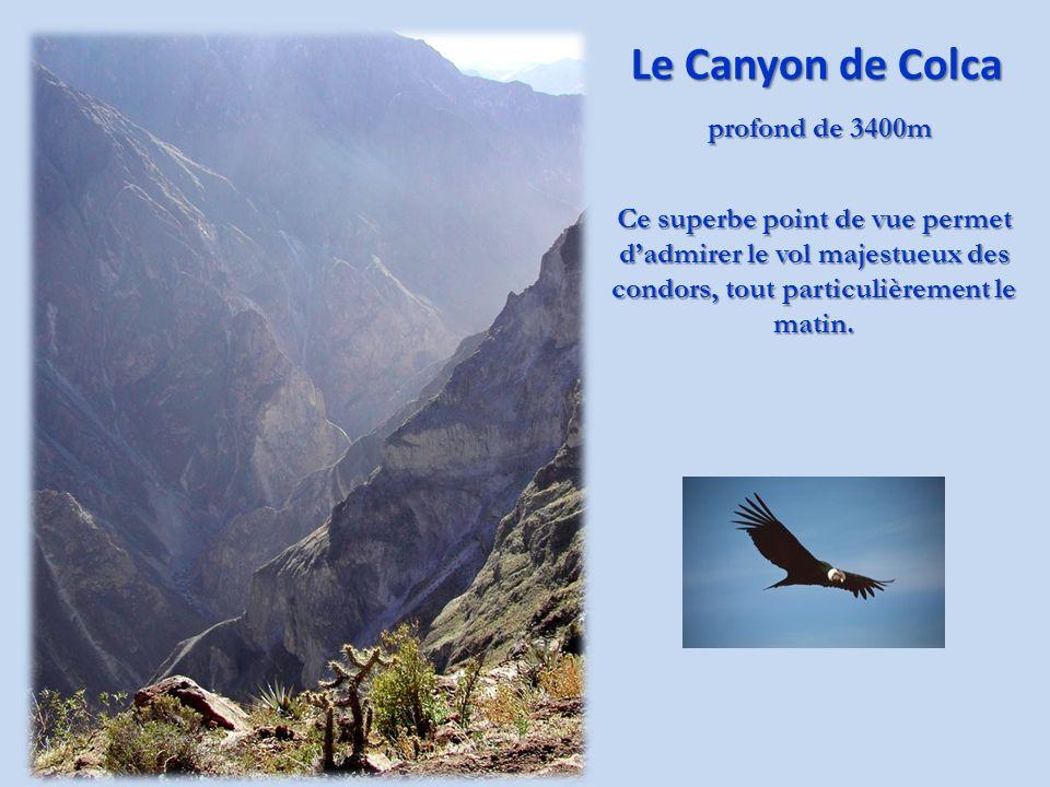 Cultures en terrasses Le bourg de Chivay est situé à 3700m daltitude.