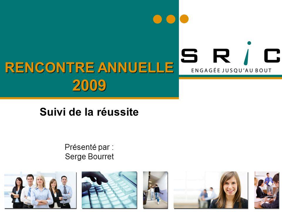 RENCONTRE ANNUELLE 2009 Suivi de la réussite Présenté par : Serge Bourret