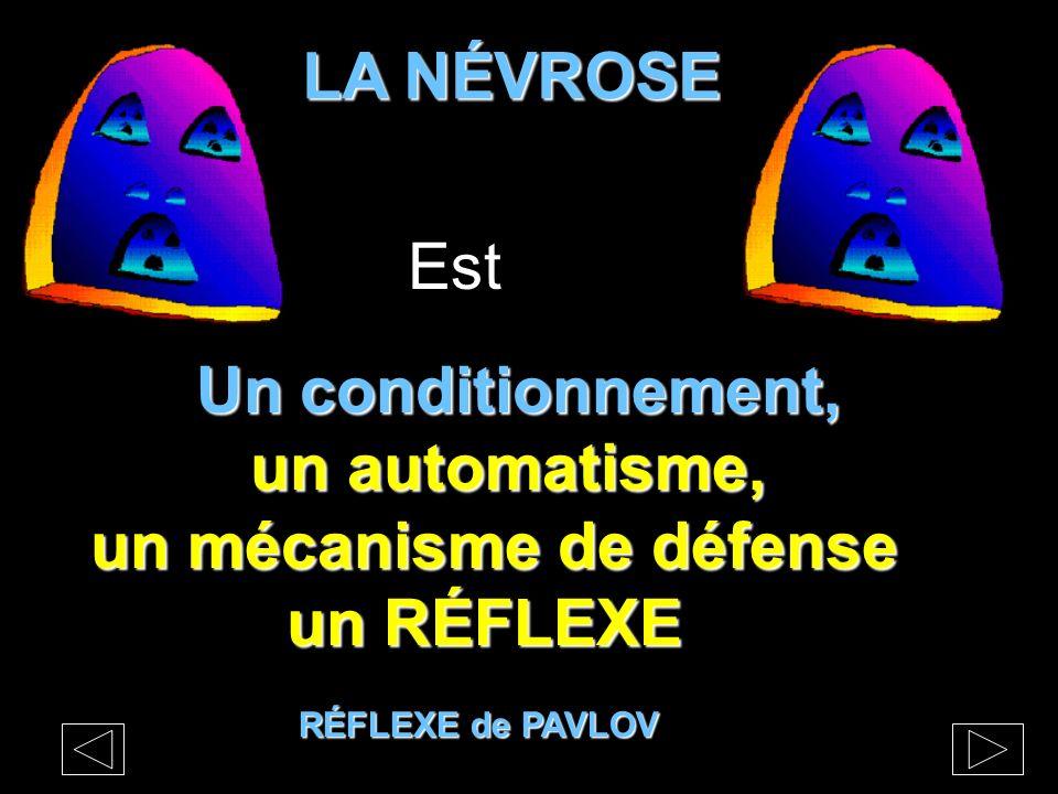 Un conditionnement, un automatisme, un automatisme, un mécanisme de défense un RÉFLEXE un RÉFLEXE LA NÉVROSE LA NÉVROSE RÉFLEXE de PAVLOV Est