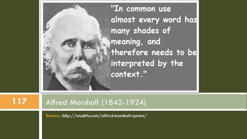d) Des définitions «raisonnées» de la concurrence Lorsque, à la fin du XIXe siècle, l économiste néo-classique britannique Alfred Marshall s emploie à cerner cette définition : il est très prudent et va jusqu à considérer que le terme competition, expression anglaise pour désigner la concurrence, est inadéquat.