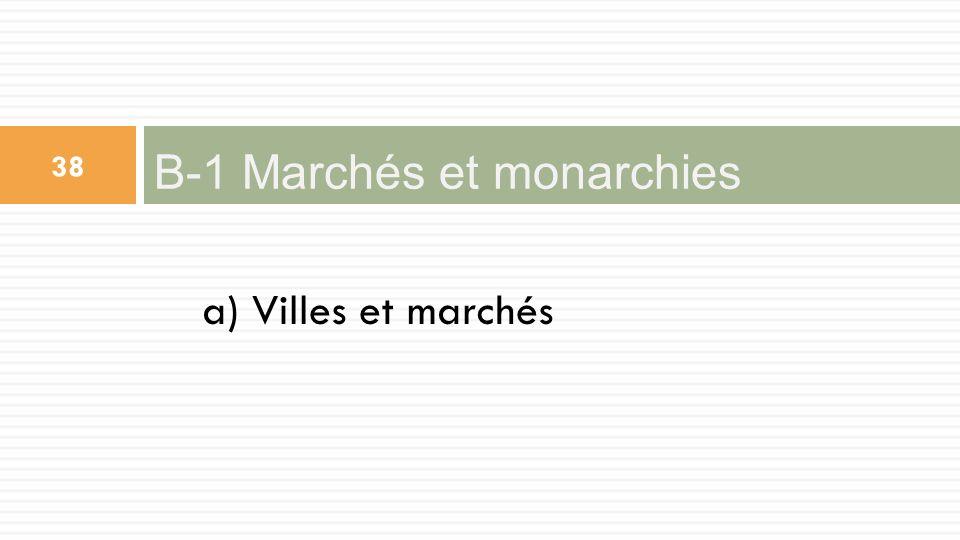 a) Villes et marchés B-1 Marchés et monarchies 38