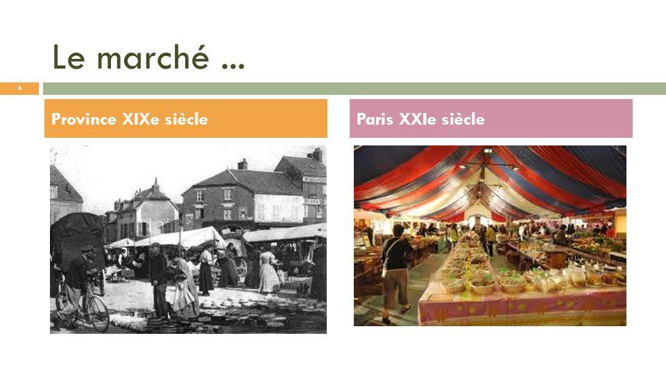 Le marché... Province XIXe siècleParis XXIe siècle 6