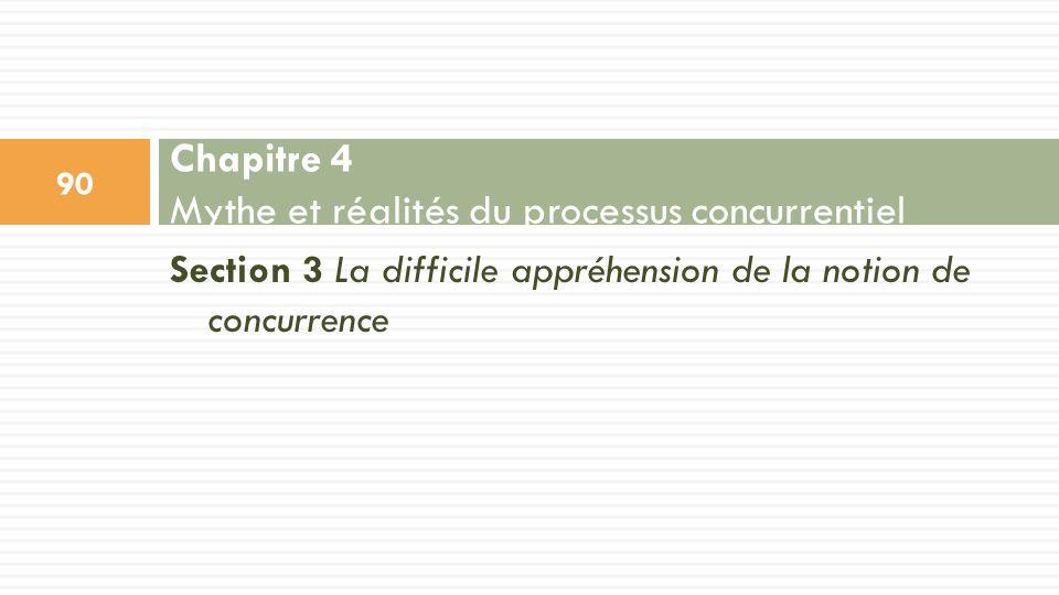Section 3 La difficile appréhension de la notion de concurrence Chapitre 4 Mythe et réalités du processus concurrentiel 90