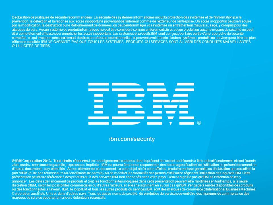 © 2013 IBM Corporation IBM Security Services 34 ibm.com/security © IBM Corporation 2013.