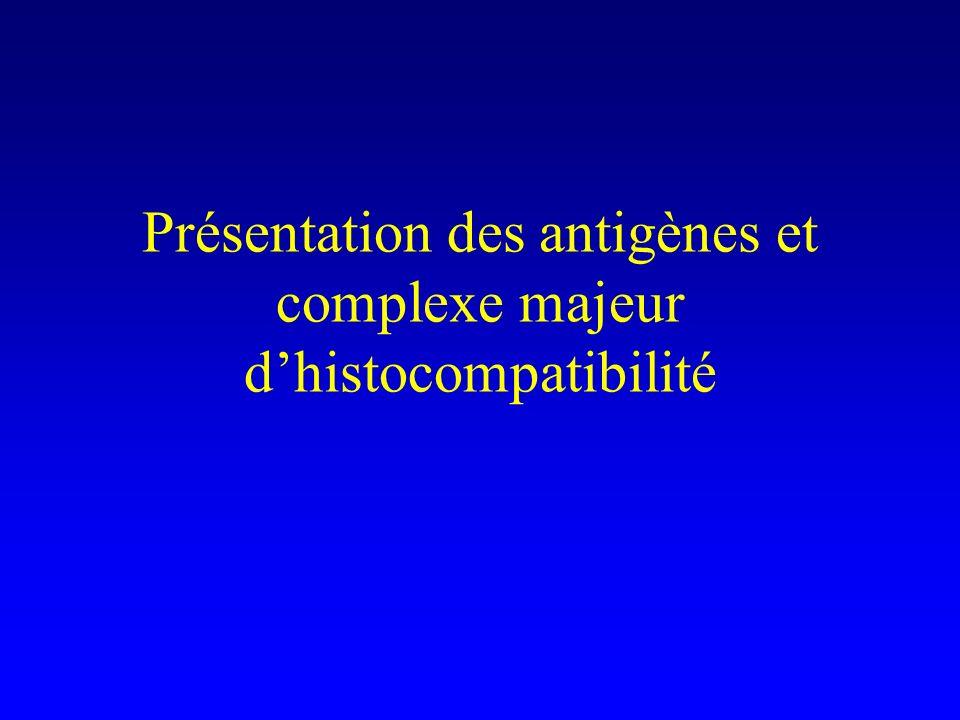 Présentation des antigènes et complexe majeur dhistocompatibilité