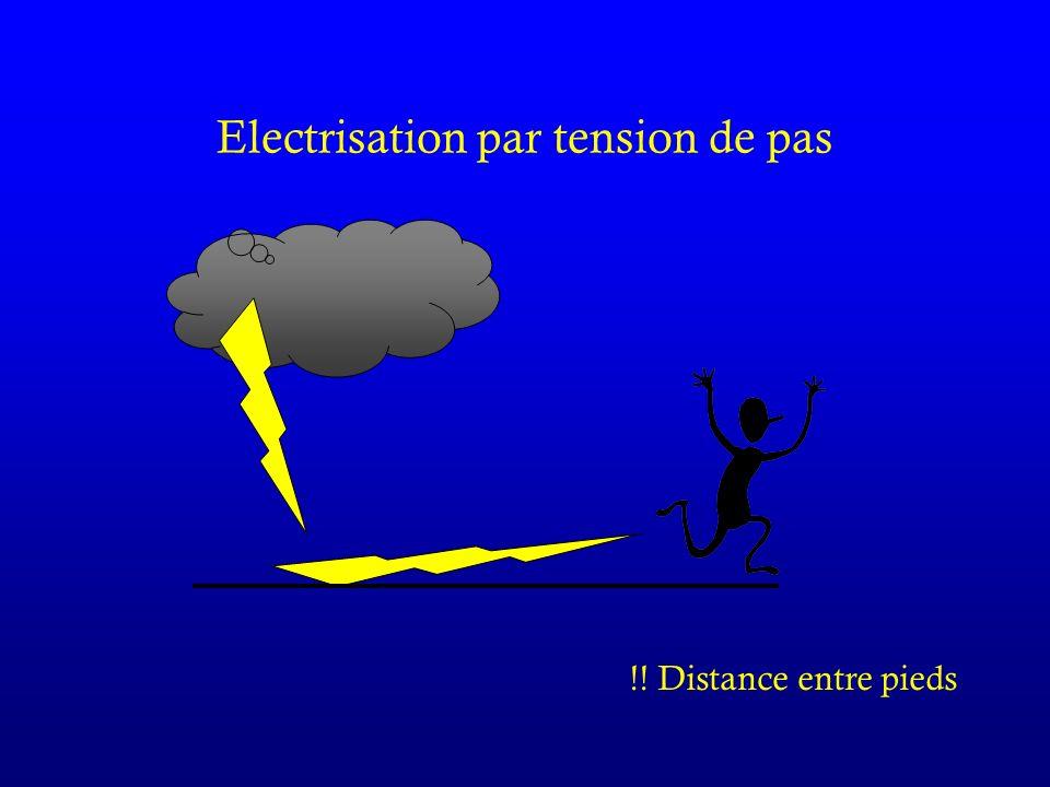 Electrisation par tension de pas !! Distance entre pieds