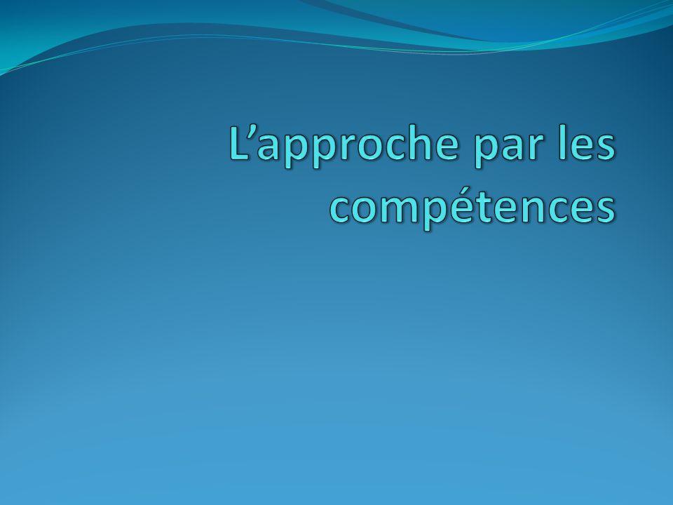 I/ problématique -Quand et comment la notion de compétence est-elle apparue.
