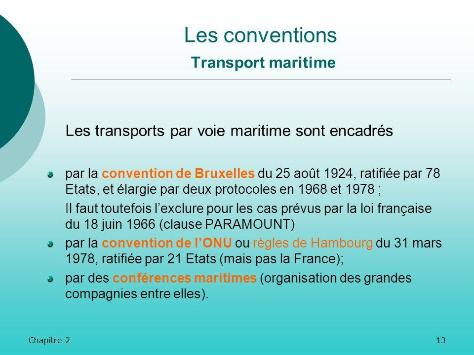 Chapitre 212 Les transports routiers internationaux sont réglementés par la convention de Genève du 19 mai 1956, signée par 24 Etats : toute lEurope o