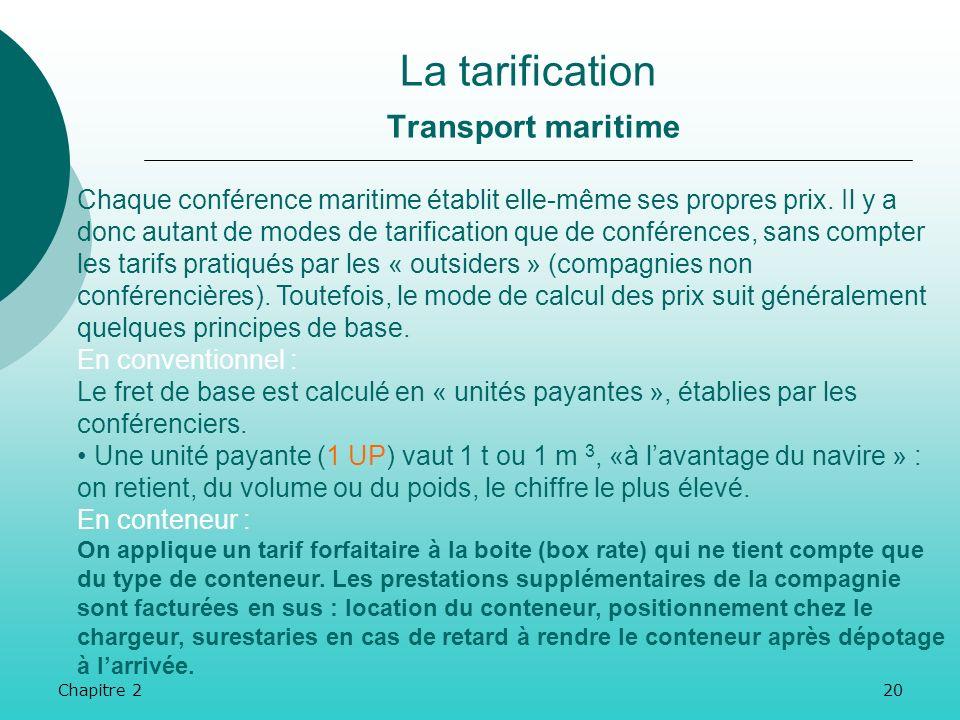 Chapitre 219 Les transporteurs routiers proposent plusieurs services annexes : Des prestations portant sur la qualité : respect strict des délais de l