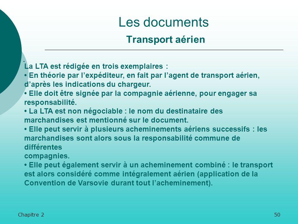 Chapitre 249 Les documents Transport maritime.