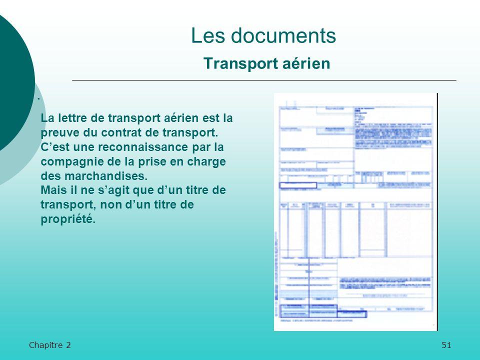 Chapitre 250 Les documents Transport aérien. La LTA est rédigée en trois exemplaires : En théorie par lexpéditeur, en fait par lagent de transport aér