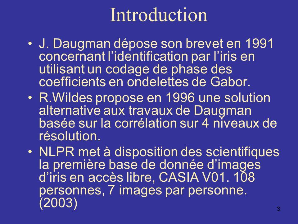 34 Conclusion Identification de liris en mode dégradé –lumière visible Paquets dondelettes Corrélation de texture