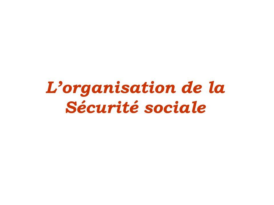 Lorganisation de la Sécurité sociale