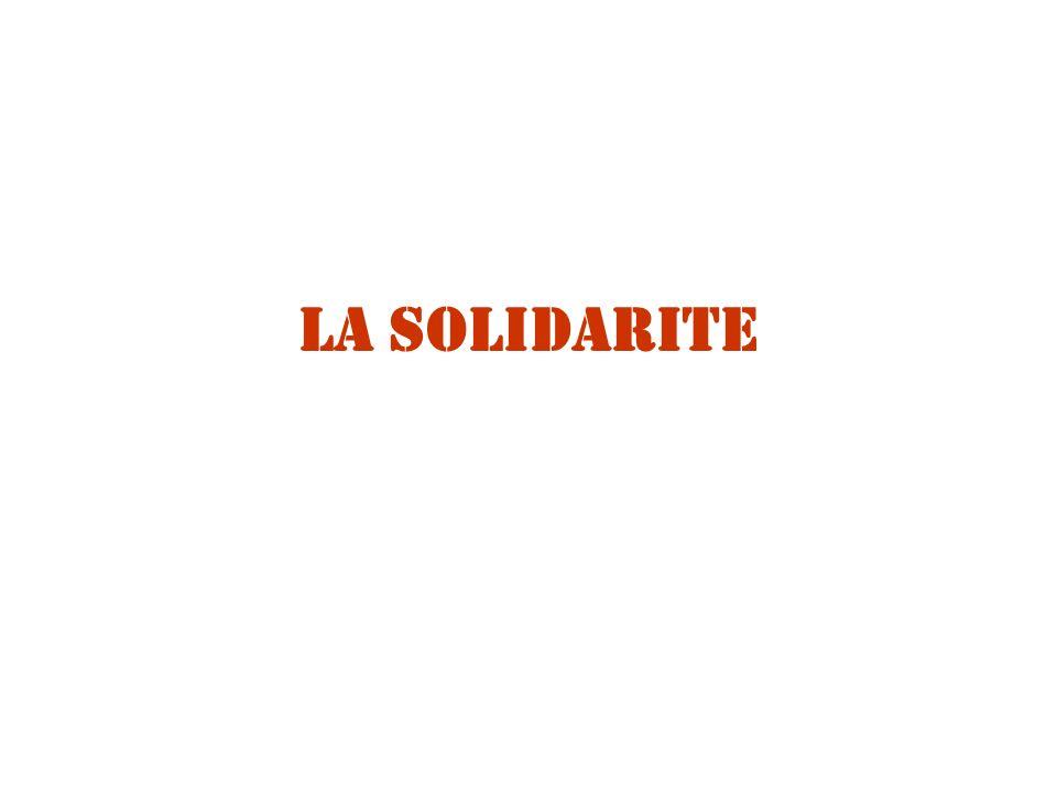 La SOLIDARITE