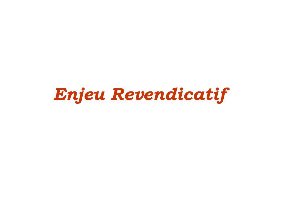 Enjeu Revendicatif