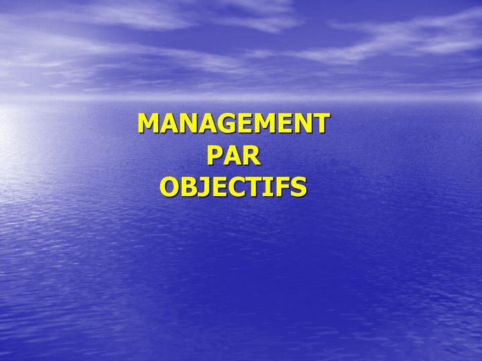 MANAGEMENT PAR OBJECTIFS
