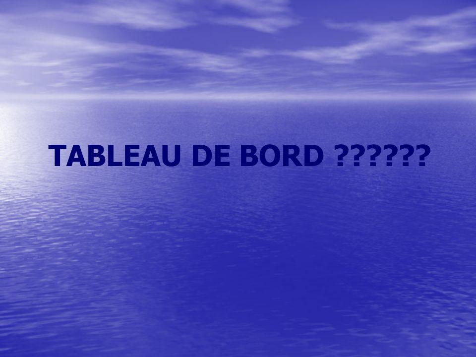 TABLEAU DE BORD ??????