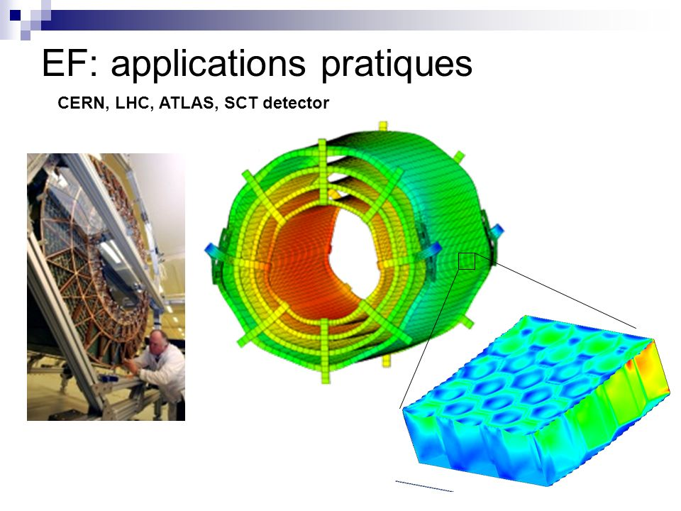 EF: applications pratiques CERN, LHC, ATLAS, SCT detector