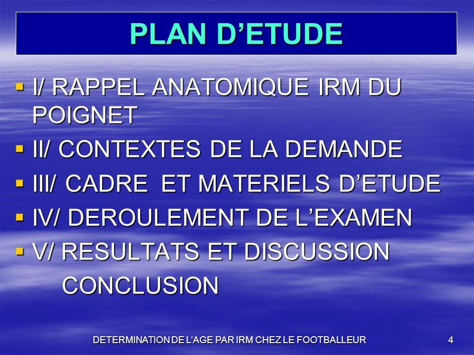 PLAN DETUDE I/ RAPPEL ANATOMIQUE IRM DU POIGNET I/ RAPPEL ANATOMIQUE IRM DU POIGNET II/ CONTEXTES DE LA DEMANDE II/ CONTEXTES DE LA DEMANDE III/ CADRE