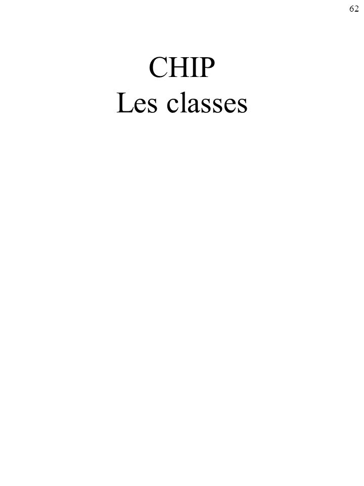 62 CHIP Les classes