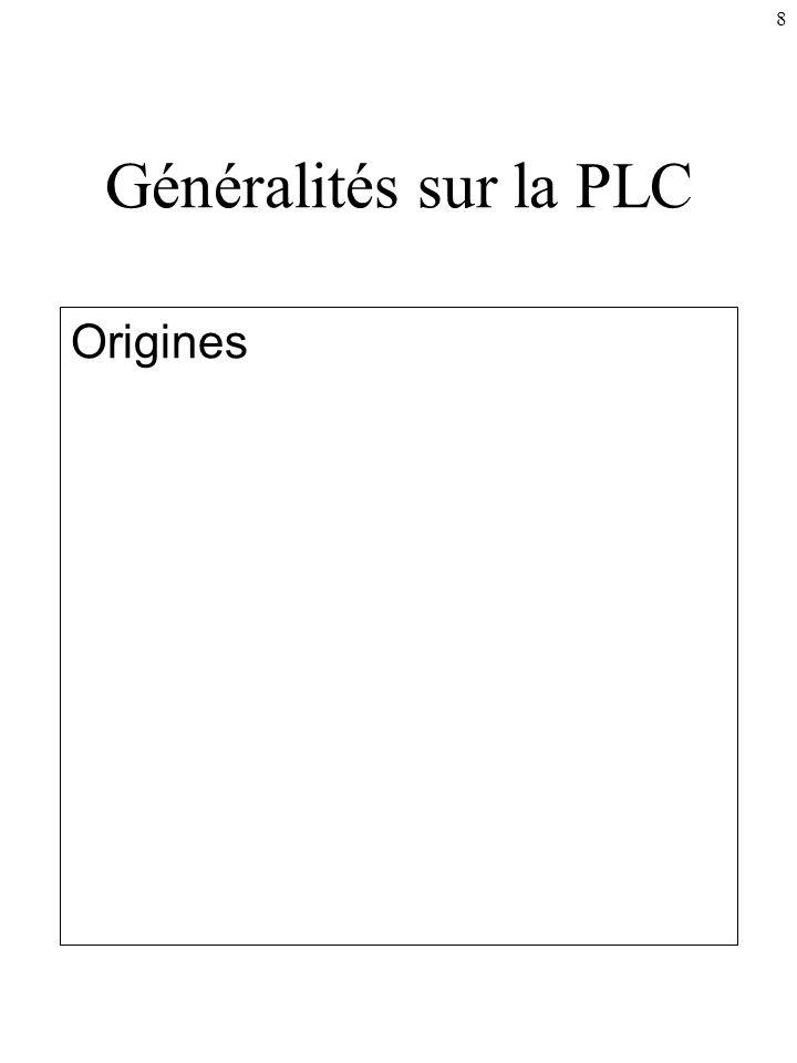 8 Généralités sur la PLC Origines