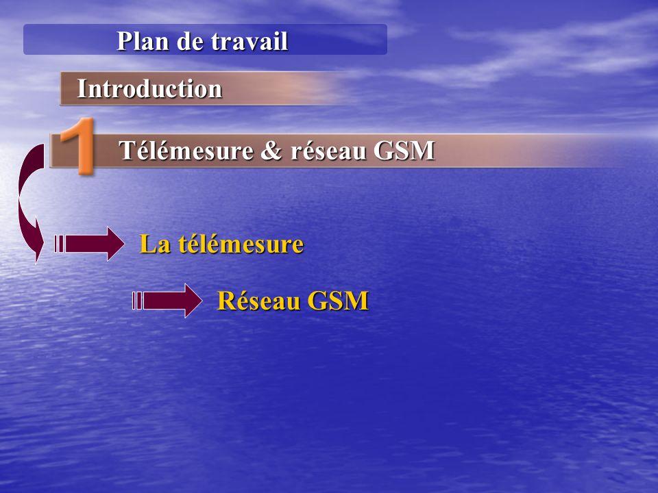 Plan de travail Introduction Télémesure & réseau GSM La télémesure Réseau GSM