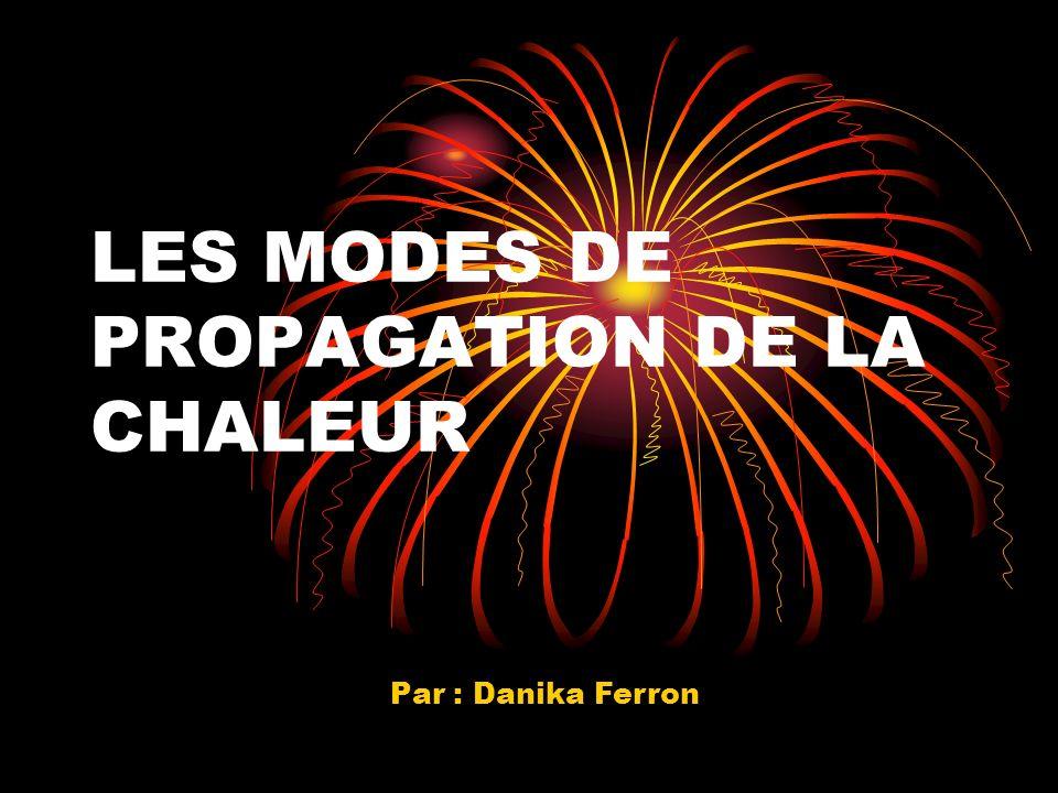 LES MODES DE PROPAGATION DE LA CHALEUR Par : Danika Ferron