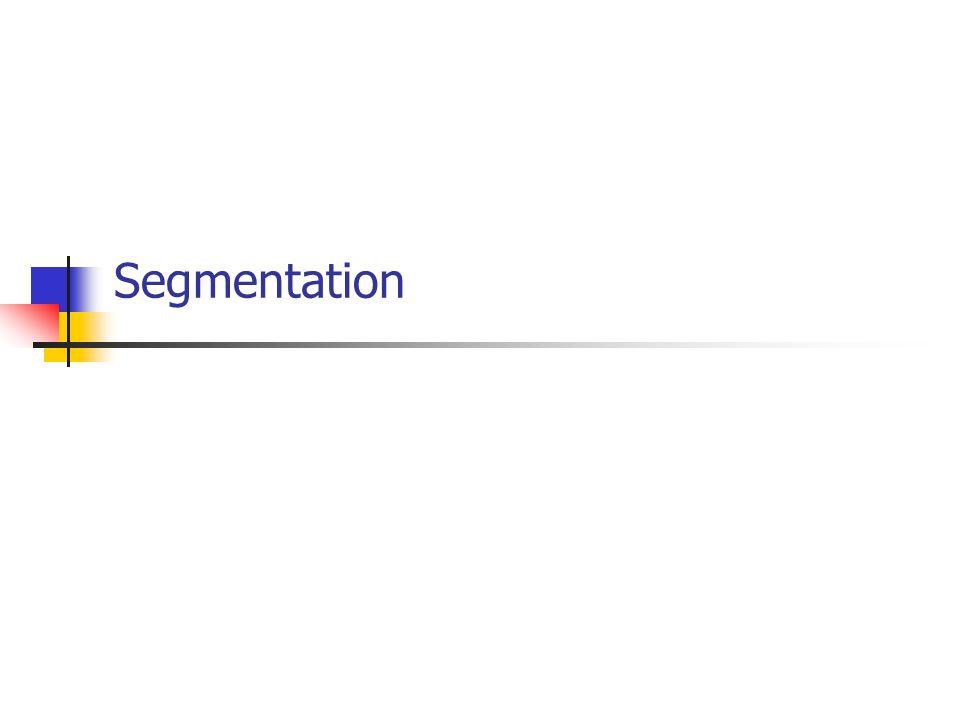 Vision par ordinateur - Alain Boucher3 Qu est-ce que la segmentation .