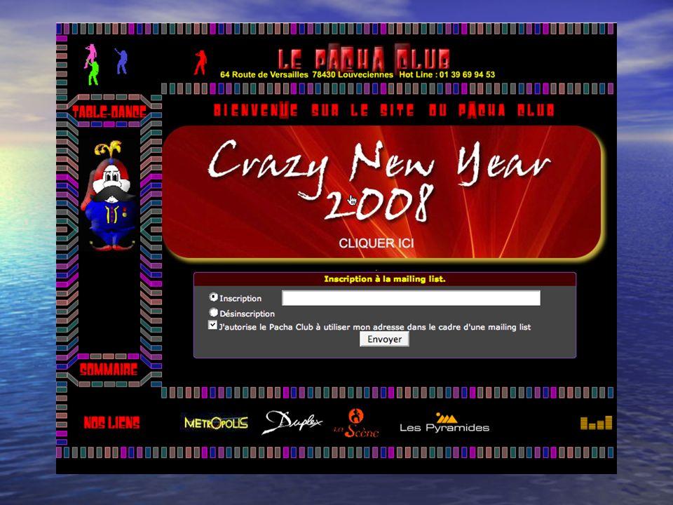 Compréhension écrite Observez ce site Internet Observez ce site Internet http://www.pachaclub.fr/accueil.php Recherchez les informations suivantes: 1.