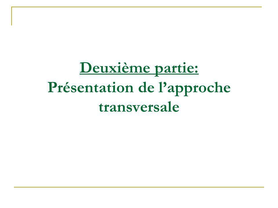 Deuxième partie: Présentation de lapproche transversale