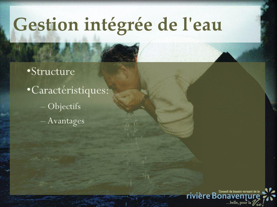 Structure Caractéristiques: – Objectifs – Avantages
