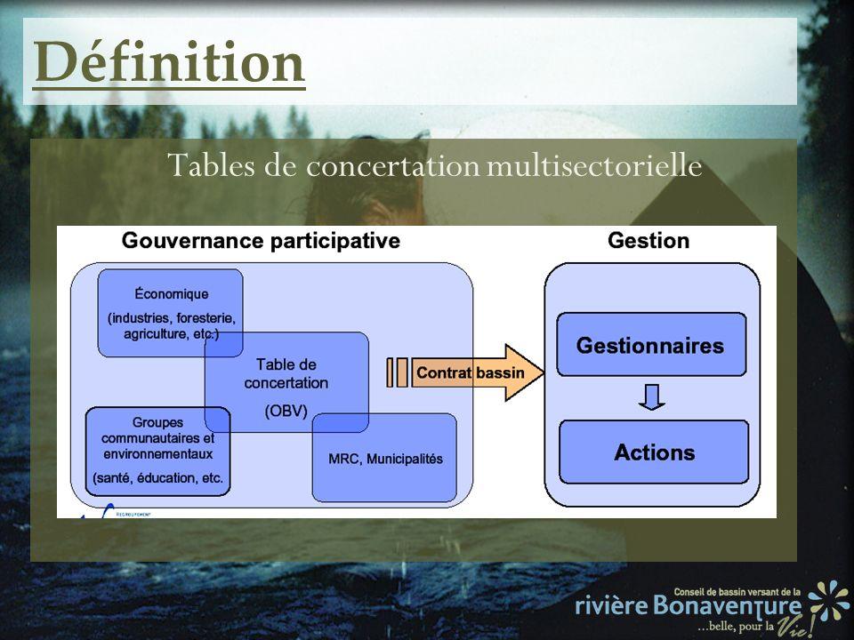Définition Tables de concertation multisectorielle