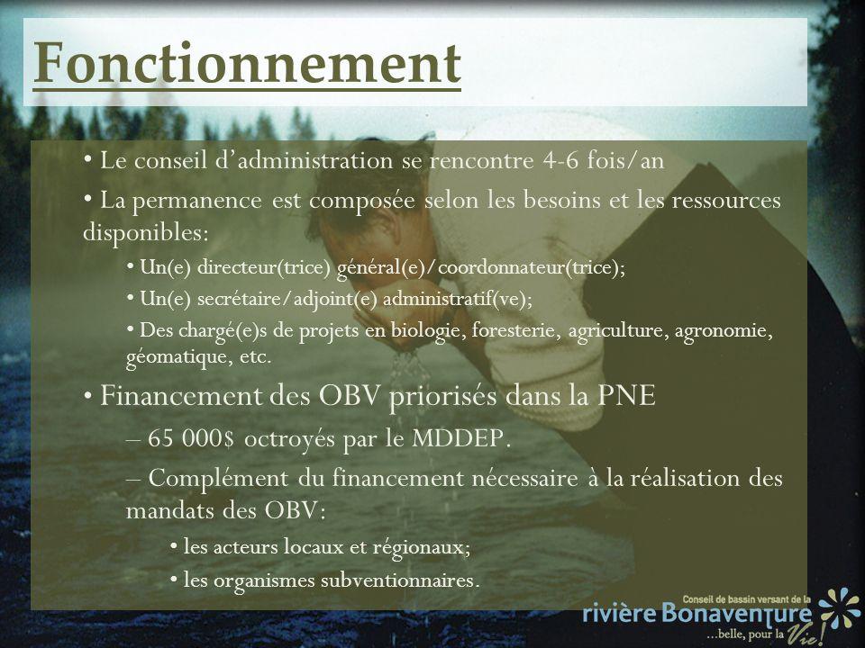 Fonctionnement Le conseil dadministration se rencontre 4-6 fois/an La permanence est composée selon les besoins et les ressources disponibles: Un(e) d