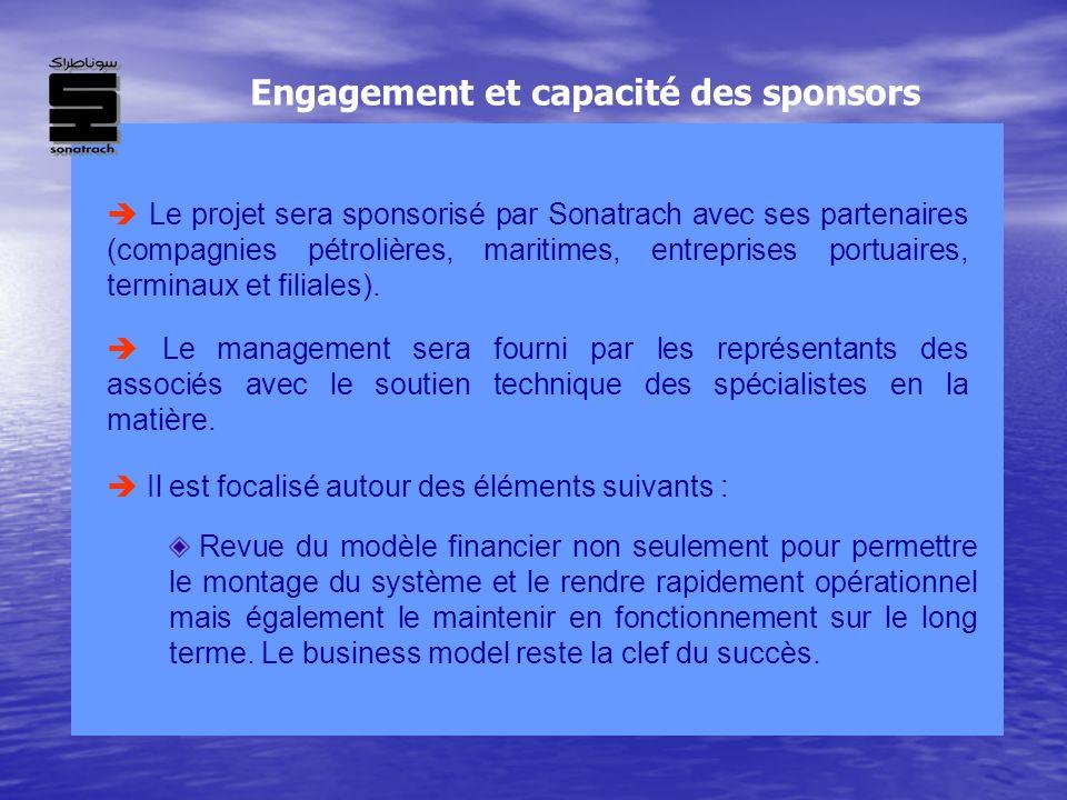 Le projet sera sponsorisé par Sonatrach avec ses partenaires (compagnies pétrolières, maritimes, entreprises portuaires, terminaux et filiales). Revue