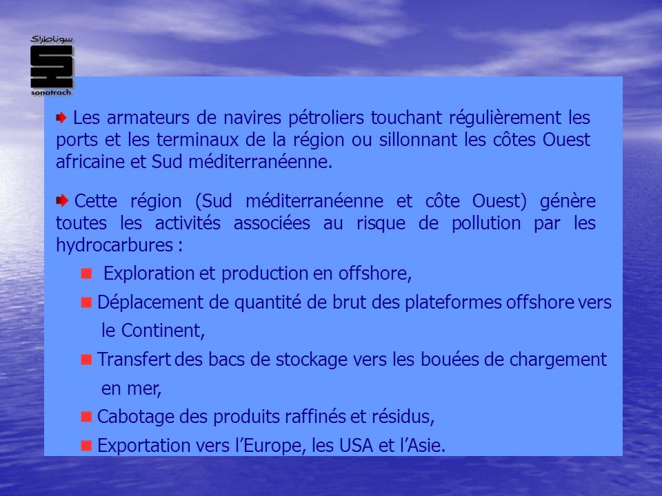 Les armateurs de navires pétroliers touchant régulièrement les ports et les terminaux de la région ou sillonnant les côtes Ouest africaine et Sud médi