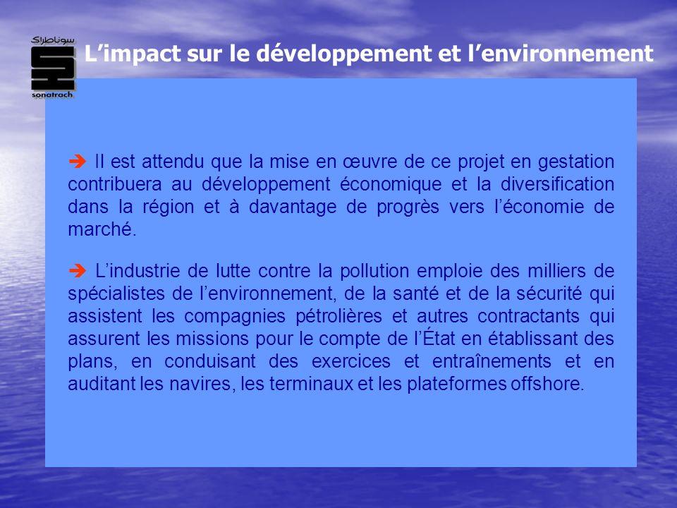 Il est attendu que la mise en œuvre de ce projet en gestation contribuera au développement économique et la diversification dans la région et à davant