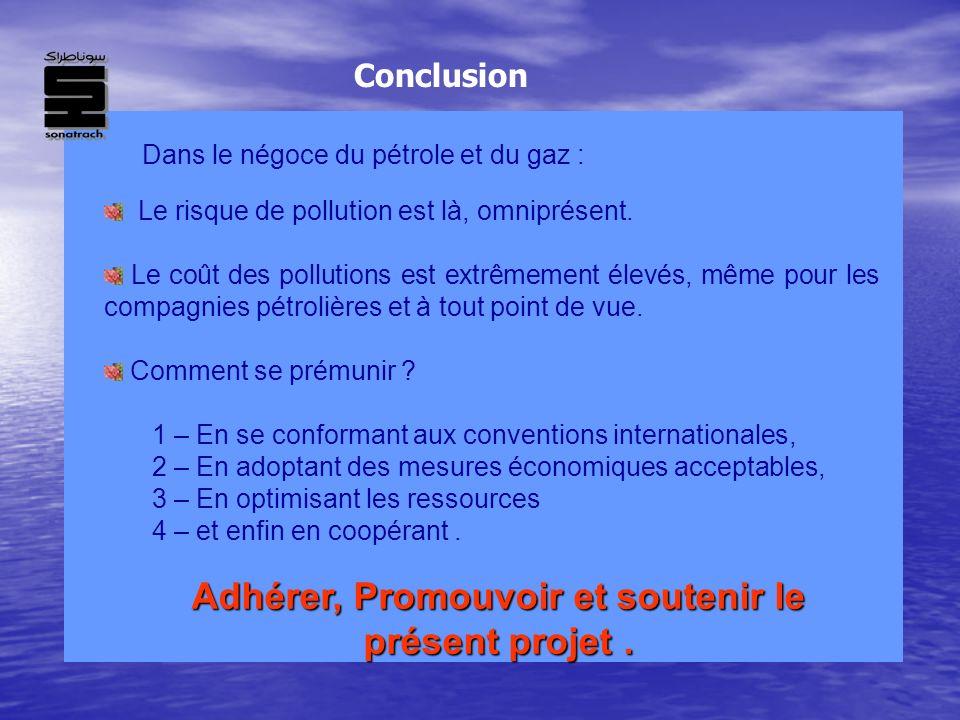 Le risque de pollution est là, omniprésent. Le coût des pollutions est extrêmement élevés, même pour les compagnies pétrolières et à tout point de vue