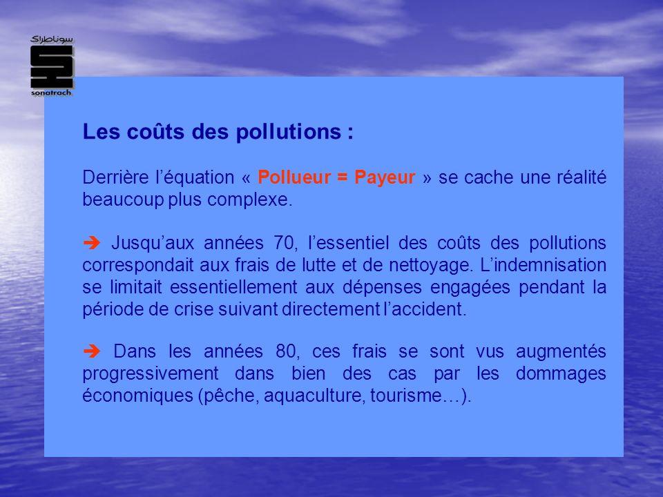 Les coûts des pollutions : Derrière léquation « Pollueur = Payeur » se cache une réalité beaucoup plus complexe. Jusquaux années 70, lessentiel des co