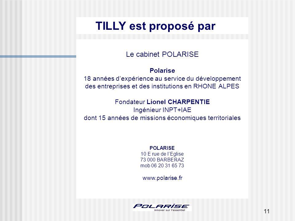 11 Le cabinet POLARISE Polarise 18 années dexpérience au service du développement des entreprises et des institutions en RHONE ALPES Fondateur Lionel
