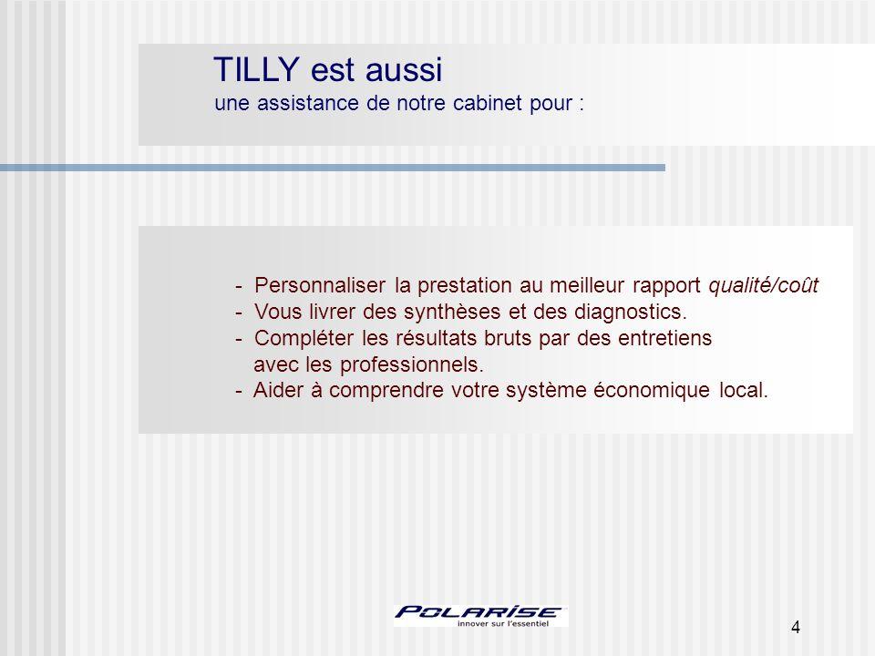 4 TILLY est aussi une assistance de notre cabinet pour : - Personnaliser la prestation au meilleur rapport qualité/coût - Vous livrer des synthèses et