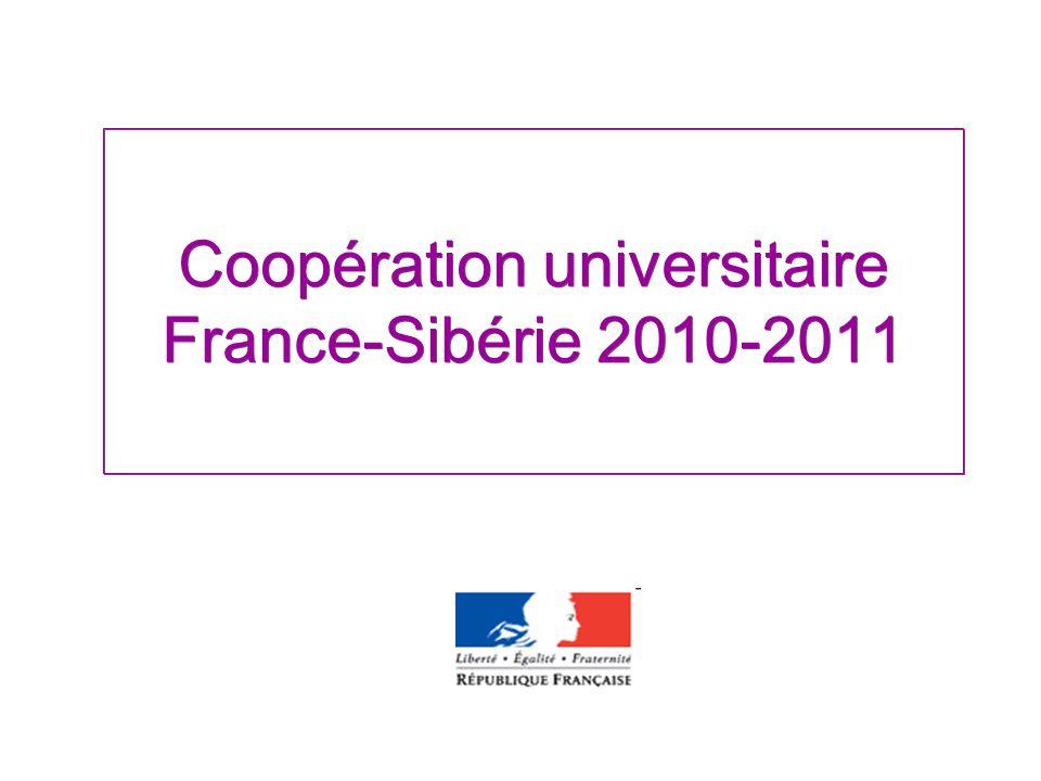 Coopération universitaire France-Sibérie 2010-2011