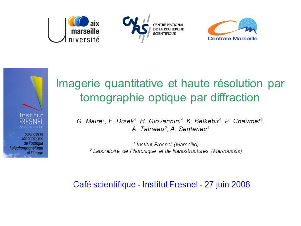 Imagerie quantitative et haute résolution par tomographie optique par diffraction G.