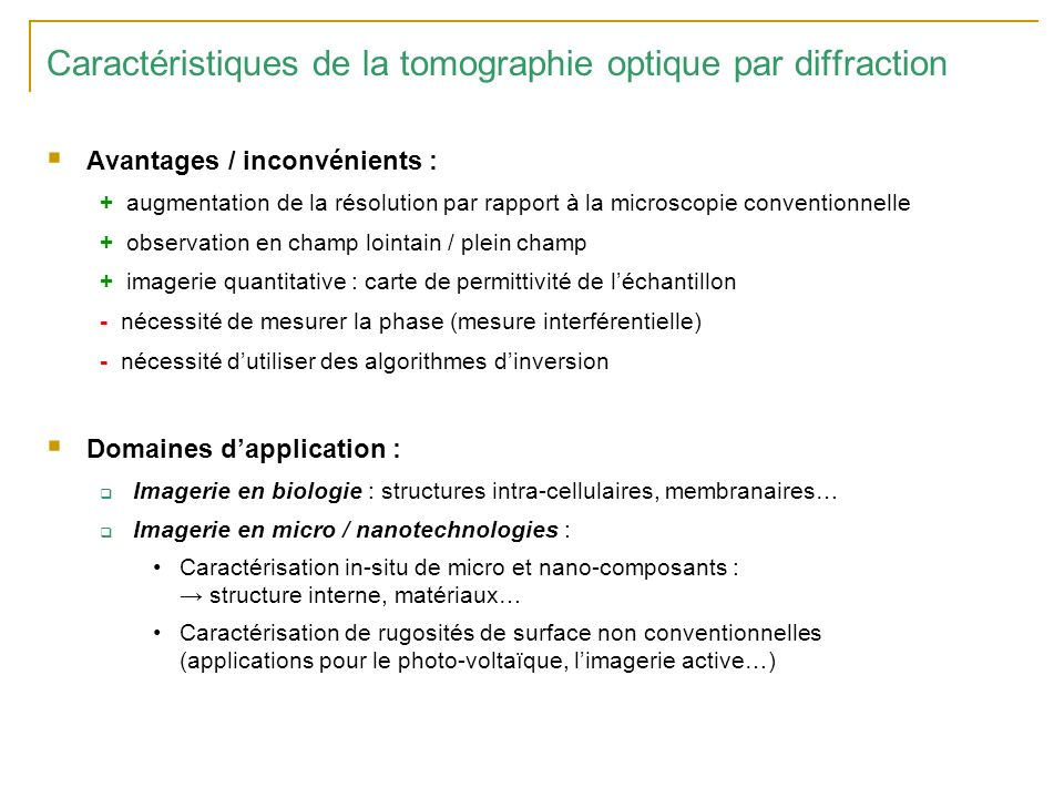 Examples of results found in the literature University of Mulhouse (France)