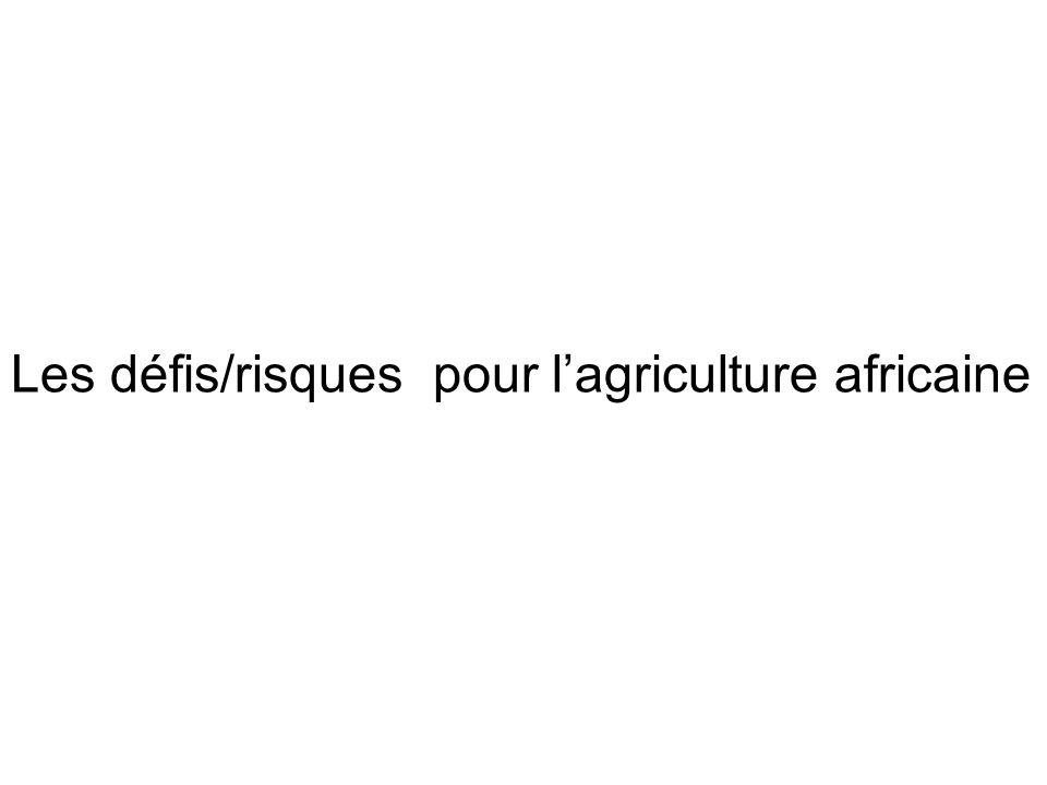 Les défis/risques pour lagriculture africaine
