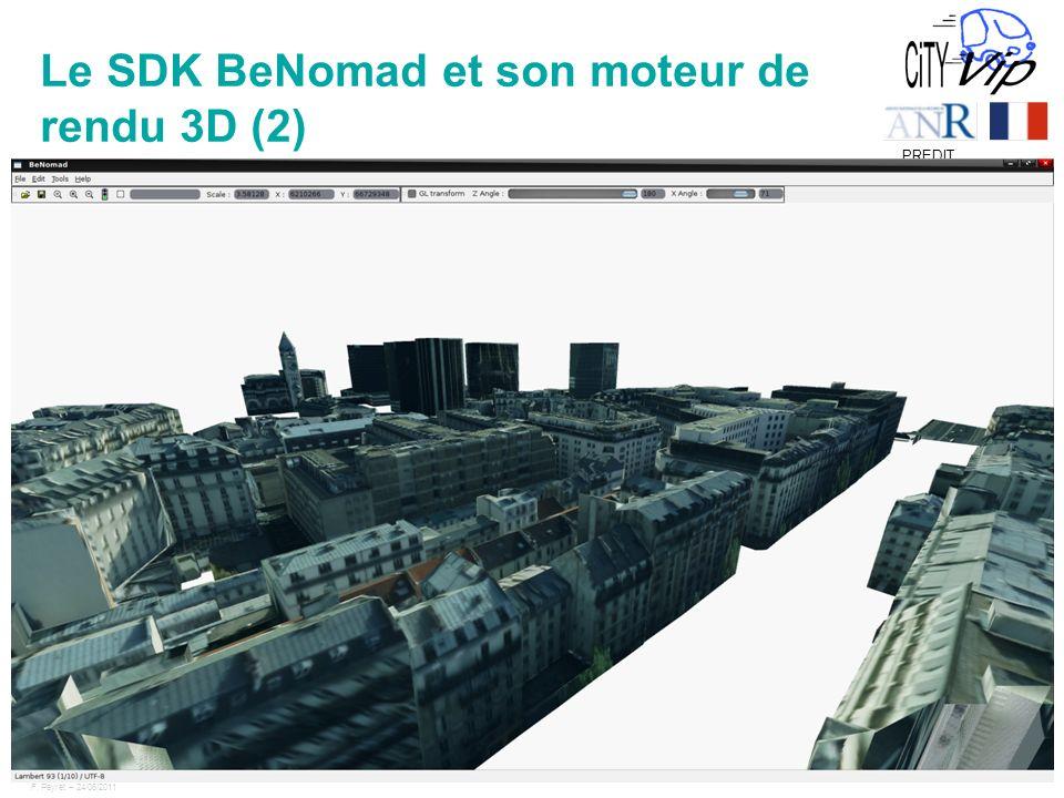 F. Peyret – 24/06/2011 11 PREDIT Le SDK BeNomad et son moteur de rendu 3D (2)