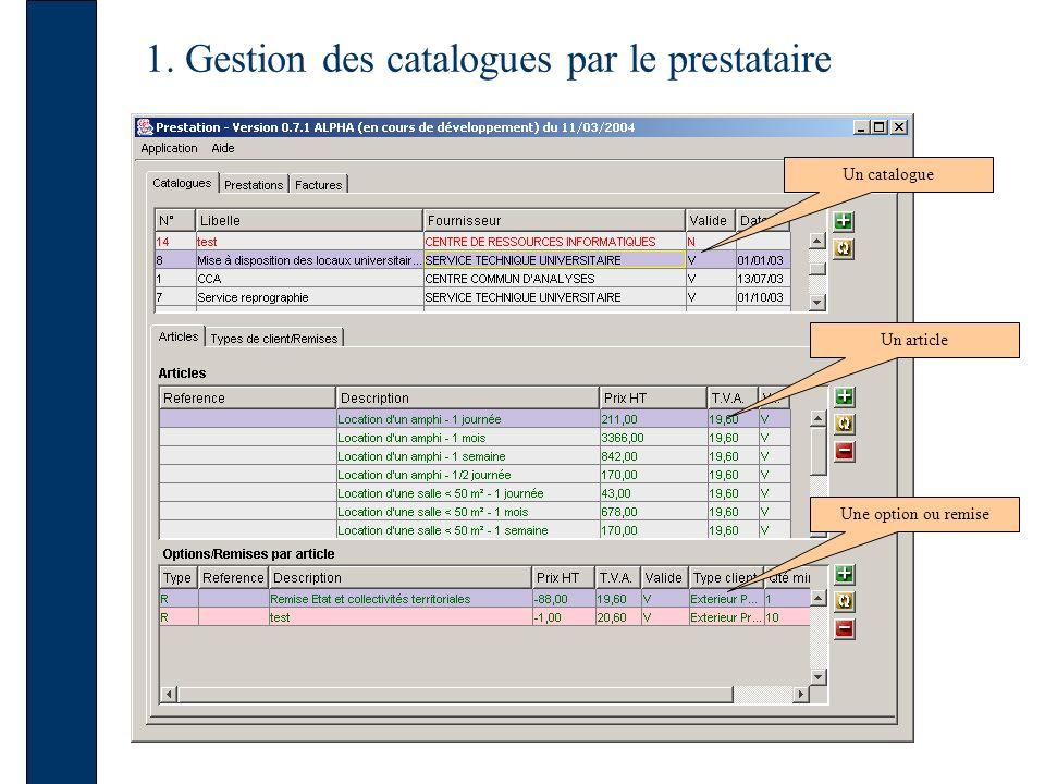 2. Consultation et création d un devis par un client externe Saisie des informations sur le client