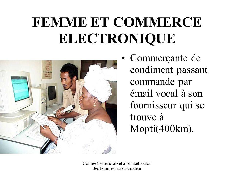 Connectivité rurale et alphabetisation des femmes sur ordinateur Leçon de courrier électronique vocal