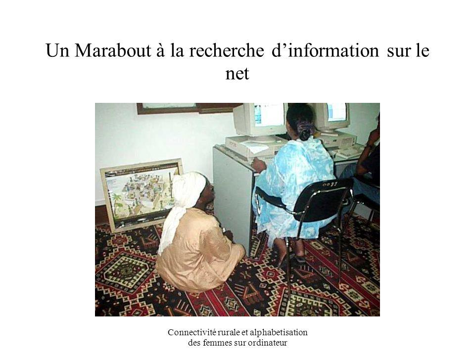 Connectivité rurale et alphabetisation des femmes sur ordinateur « Autrefois on émigrait pour chercher le savoir, aujourdhui le savoir est là » Imam 3è Mosquée Tombouctou